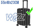 Голям плaтен ръчен багаж Wizz Air Priority до 55х40х23см