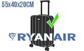 Голям плaтен ръчен багаж Ryan Air Priority до 55х40х20см