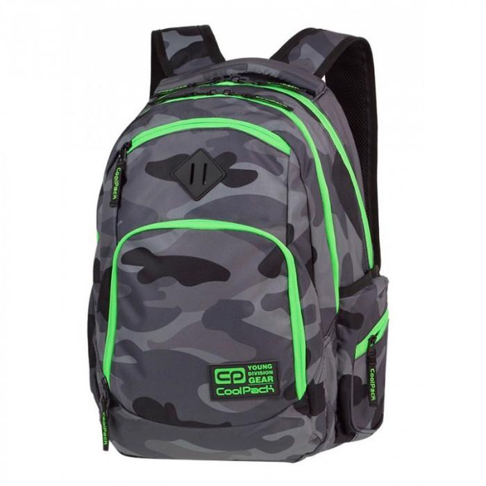 4d9e1b66be5 Камуфлажна раница с яркозелено CoolPack Break Camouflage A371 Green Neon
