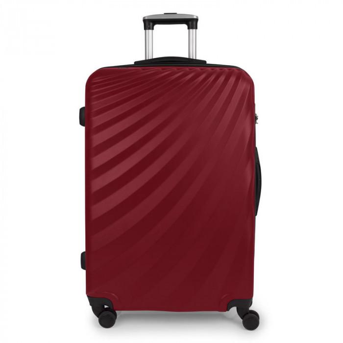 5eb06be08c8 ᐉ Червен голям твърд куфар на четири колела Gabol Royal 77см цена ...