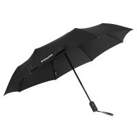 Голям черен мъжки автоматичен телескопичен чадър Wenger Rubberstyle