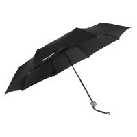 Черен сгъваем чадър Wenger Woodenstyle