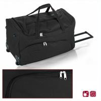 Черна пътна чанта на колела Gabol Week 60см