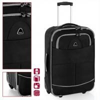 Текстилен куфар в черен цвят Gabol Pick 65см