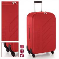 Стилен червен куфар с четири колела Gabol West