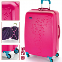 Свеж куфар с четири колела Gabol Triana, циклама