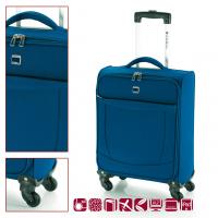 Син текстилен куфар за ръчен багаж Orlando 54см.