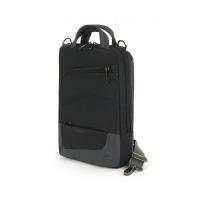 Стилна компактна чанта за таблет, черно и сиво