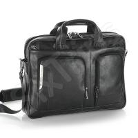 Черна кожена бизнес чанта Gabol Shadow 15.6