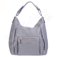 Дамска чанта с много джобове Puccini, сива