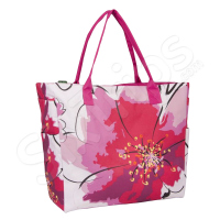Дамска лятна чанта за плажа, розова
