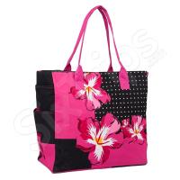 Дамска чанта с флорални елементи HatYou, циклама