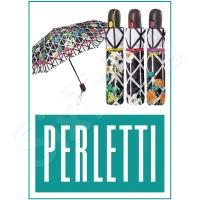 Чадър на цветя черно-бяло Perletti