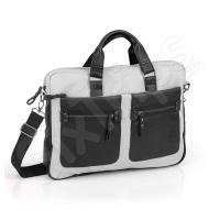 Стилна сива бизнес чанта за лаптоп 15.6