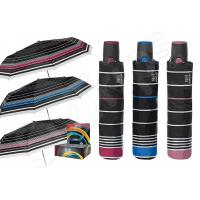 Черен чадър с райета Perletti Technology