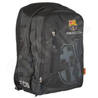 Компактна черна раница FC Barcelona