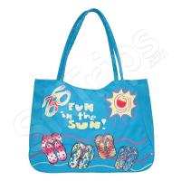 Свежа синя чанта за плаж
