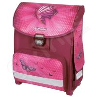 Розова раница Herlitz с пеперуди - Butterfly power