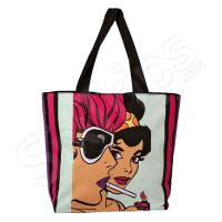 Дамска чанта в черно и розово