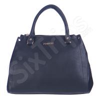 Модерна черна практична дамска чанта Puccini