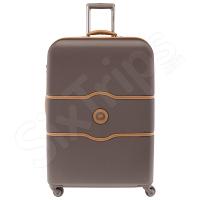 Изискан куфар Delsey Chatelet Air 77см, в цвят шоколад