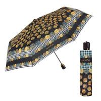 Луксозен черен дамски чадър Maison Perletti с дизайн на монети