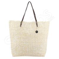 Жълта плажна чанта от 100% канап