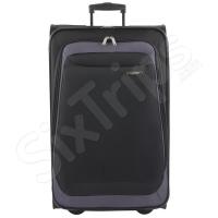 Черен куфар с две колела Travelite Portofino 71см