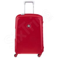 Червен стилен твърд куфар Delsey 61см