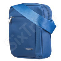 Чанта за рамо в приятен син цвят Puccini 24см