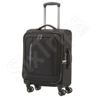 Черен мек куфар за ръчен багаж на четири колела Travelite Crosslite S