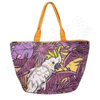 Лилава чанта за плаж с тропически елементи HatYou