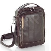Кафява мъжка чанта за рамо от еко кожа 10.2