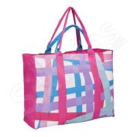 Чанта за море в розово и синьо