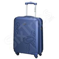 Син куфар с флорални елементи 55см Gabol Iris