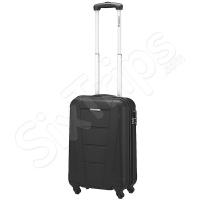 Малък стилен черен куфар 31л, черен