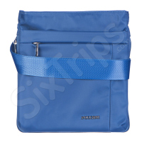 Практична синя чанта за през рамо Puccini