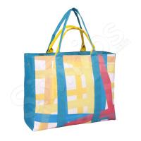 Чанта за плаж в синьо и жълто