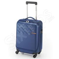Син функционален куфар за ръчен багаж 55см