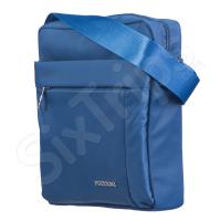 Функционална голяма чанта за през рамо 28см, синя