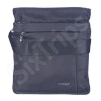 Черна чанта за през рамо с разширение Puccini