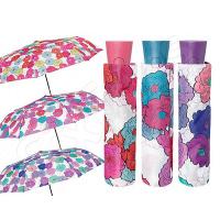 Чадър на цветя розово, лилаво или тюркоаз