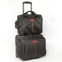 Малък авационен куфар с чанта за лаптоп Verbatim Frankfurt 15.6