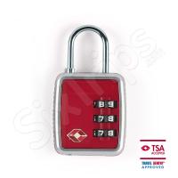 Червено катинарче по TSA стандарт с код