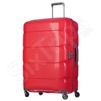 Свеж червен куфар от полипропилен Puccini, 100л