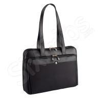Стилна черна дамска чанта за лаптоп Wenger Rhea 15.4