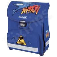 Училищна раница Shark attack в син цвят