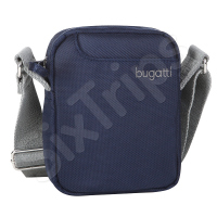 Синя чанта за рамо Bugatti Jason