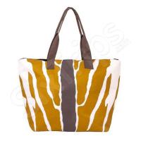 Жълта дамска чанта за плаж 60см