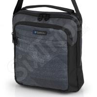 Стилна мъжка чанта Prisma в черно сиво